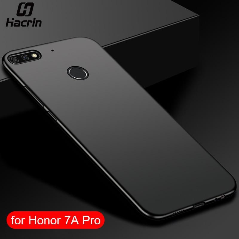 Huawei Honor 7A Pro чехол противоударный защитный чехол для Honor 7A Pro Чехол-бампер матовая накладка на заднюю панель для huawei Y6 Prime 2018