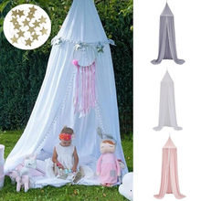 Hanging Mosquito Net Baby Bed Canopy Dome Dream Curtain Tent Baby Crib Netting Round Hung Kids Canopy Tent Children Room Decor(China)