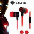 Envío gratis para auricular con micrófono auricular en la oreja 3.5 mm teléfono móvil auriculares auriculares auriculares PC headset con paquete al por menor