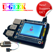 Buy Support I2C! UGEEK Original Design! 2.2 inch LCD TFT Screen With 6 Button&IR Display for Raspberry Pi 3 Model B 2B B+ A+ Zero