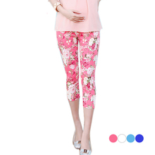 Fashion floral pattern trousers for pregnant women summer clothes