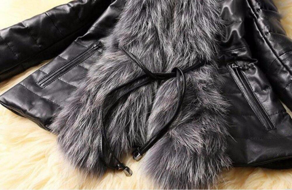 Talla Invierno Pu 3xl Grande 2018 De Chaquetas Imitación Piel Mujer Abrigo Retazos Black Zorro BvqwnaY