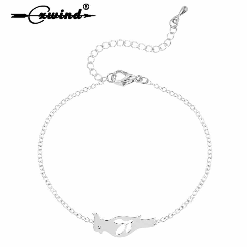 Cxwind אופנה תוכי צמידי עבור נשים ציפור צמיד צמיד סניף עלה צמיד תוכים בעלי החיים חמוד תכשיטים