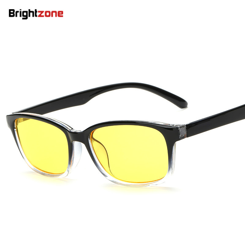Brightzone Anti Blue Rays Clear Yellow Lenses Computer Reading Radiation-resistant Goggles Gaming Glasses 5020 eyeglasses oculos