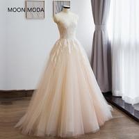 vestidos de noiva boho lace mermaid wedding dress 2019 bride dress simple bridal ball gown real photo luxury Champagne dress