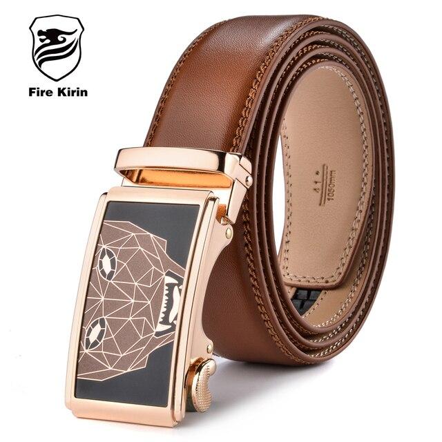 KIRIN FUEGO Hombres Del Diseñador de Moda Cinturones 2017 Famosa Marca  Estampado Geométrico de la Correa. Sitúa el cursor encima para ... 205ff71b6cb5