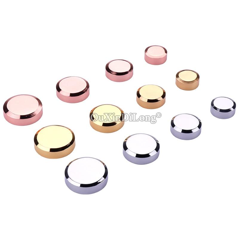 Envío Expreso 500 Uds latón anuncio, uñas cartelera de acrílico espejo de cristal de las uñas de tornillos cubiertas de oro/oro rosa