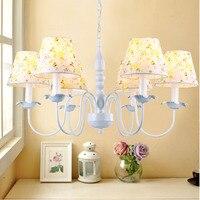Farmhouse Style Resin 6 Head Chandeliers For The Bedroom Led E14 Lamp 110V 220V Lustre Design