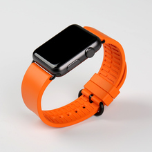 MAIKES black rubber watchbands for sports apple 42mm 38mm