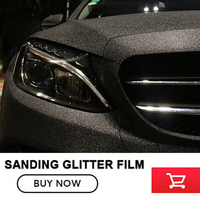 OPLARE taille: 1.52x30 m Noir Noir Gel Glitter Diamant vinyle film Mat Glitter Diamant autocollant de voiture avec bulle libèrent LE BATEAU LIBRE
