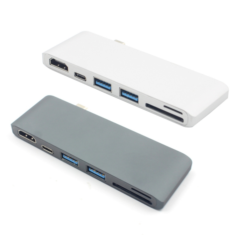 USB C 3.0 Hub Type C To 4K*2K HDMI Charging Card Reader Adapter For MacBook Pro-in Card Readers from Computer & Office