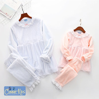 2018 Winter Children's Pajamas mommy and me clothes mother daughter pyjamas nightwear sleepwear family matching outfits