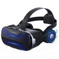 Virtual Reality Headset VR SHINECON 3D VR Glasses VR Large Viewing Immersive Experiencewith Stereo Headphone