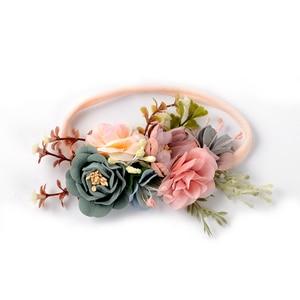 Bonita diadema de flores para niñas, diadema para el pelo, accesorios para foto de boda, regalos de princesa, corona de flores para recién nacidos, diadema, accesorios para el cabello