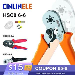 23-10AWG 6-6 0.25-6mm Crimp Hand Tools HSC8 Hexagon & 10 S 0.25-10mm 23-7AWG