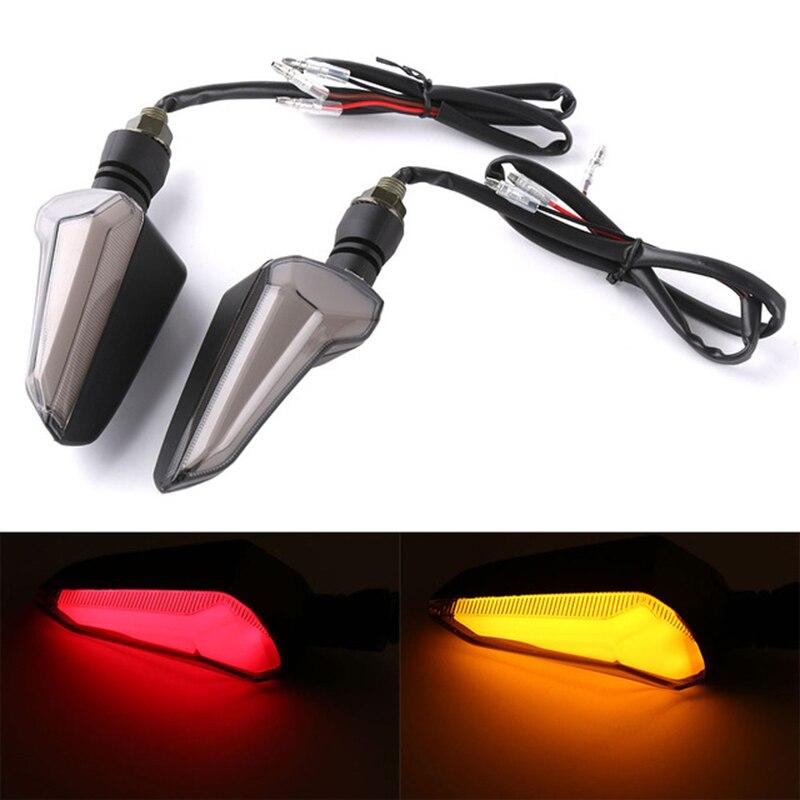 Motorcycle Blinker LED Turn Signal Indicator Light For Yamaha MT 09 Tracer Ducati Diavel Honda NC750X Suzuki GSXR 600 цена