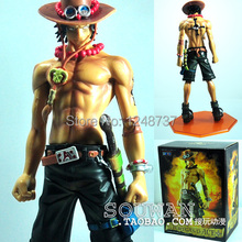 Free Shipping Japanese Anime One Piece Portgas D Ace PVC Action Figure Collection Model Toy 10″ 26cm , birthday gift