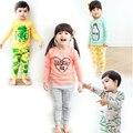 Pijamas de los cabritos 2017 Sistema de la Ropa pijamas Niñas niños infantil Bobo Elige pajam ropa de dormir para niños pijamas bebé ropa de dormir