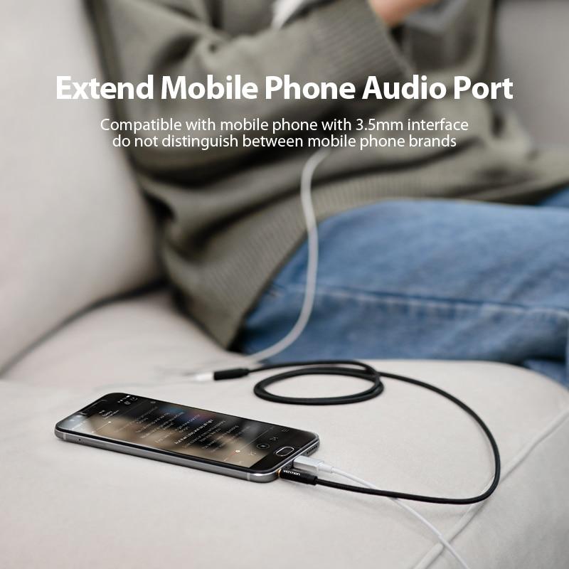 Image 3 - Vention Aux кабель Jack 3,5 мм аудио кабель удлинитель для huawei P20 стерео 3,5 Jack Aux Шнур адаптер для наушников Xiaomi samsung on AliExpress - 11.11_Double 11_Singles' Day
