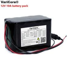 Varicore 대용량 12 v 10ah 18650 리튬 충전식 배터리 12 v 10000 mah bms 75 w led 램프 xenon ues