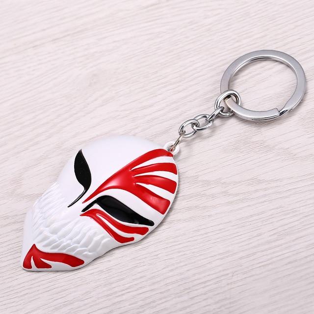 Anime Bleach Mask Logo Alloy Metal Key Rings