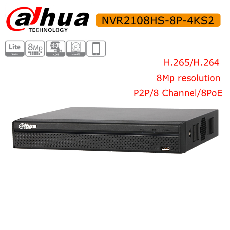 DH NVR2104HS P 4KS2 NVR2108HS 8P 4KS2 4CH 8CH POE NVR 4K Recorder Support HDD 4