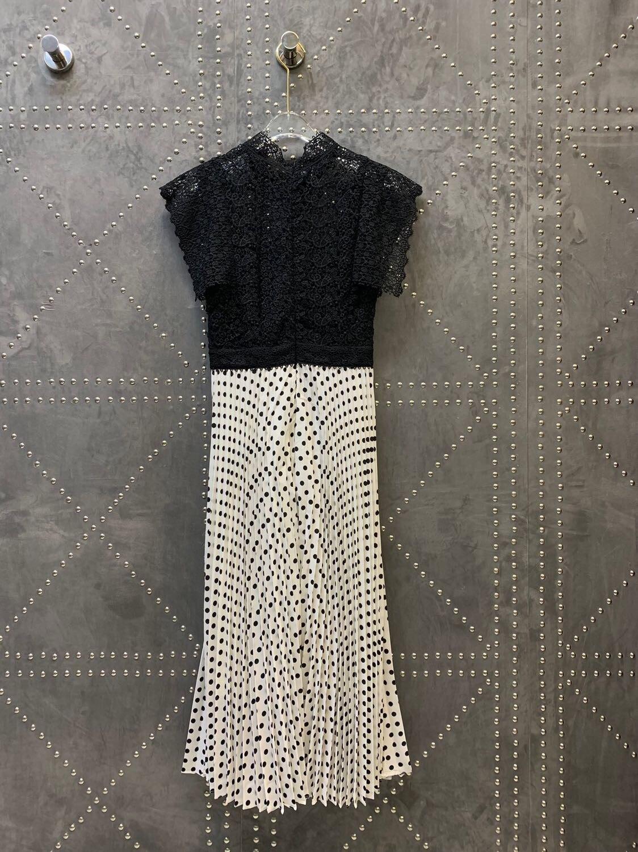 2019 nieuwe Holle stiksels golf punt hoge taille plooien Mode Jurken Voor Vrouwen Gratis Verzending-in Jurken van Dames Kleding op AliExpress - 11.11_Dubbel 11Vrijgezellendag 1