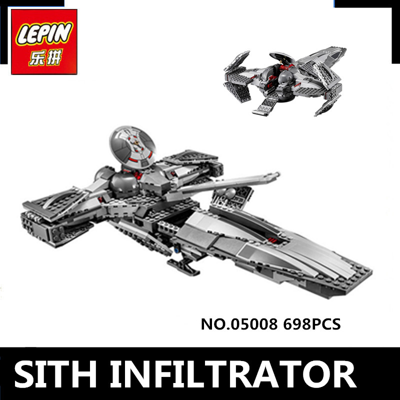 LEPIN 05008 698pcs The Force Awaken Sith Infiltrator Building Block Darth Margus Compatible 70596 Boys Toys Kids Gift new lepin 698pcs 05008 star wars sith infiltrator figure marvel building blocks set toys compatible legoed with 7961