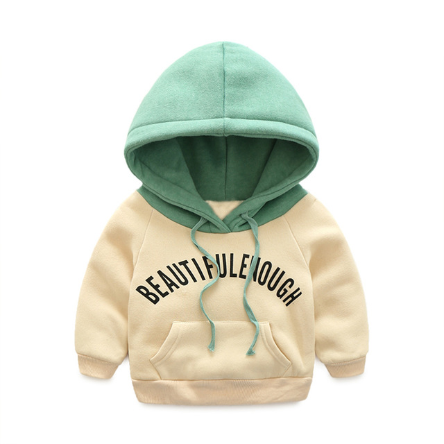 Winter Kids Plus velvet sweatshirts hoodies Thick cotton Fashion Boys girls Warm Cashmere coat clothes Toddler baby hooded top