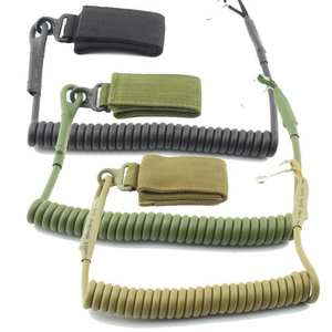 Safety-Harness Recycle Tactical Green Black 1pc Mud Task-Rope Spring Novel Adjustable
