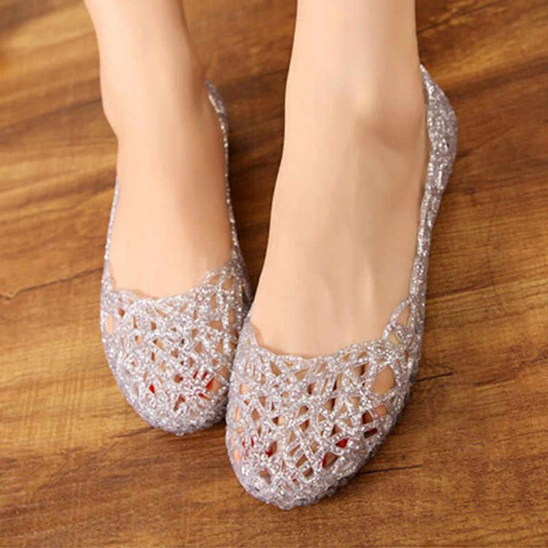Xăng Đan Nữ 2018 Mùa Hè Mới Nữ Giày Nữ Giày Jelly Tenis Feminino Lưới Đế Sandalias Mi Thời Trang Giày Sandal Nữ