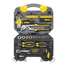 Набор ручного инструмента STAYER 27710-H56 (Количество предметов в наборе - 56 штук - отвертки, биты, шарнирно-губцевый инструмент, гаечные ключи, торцевые головки)