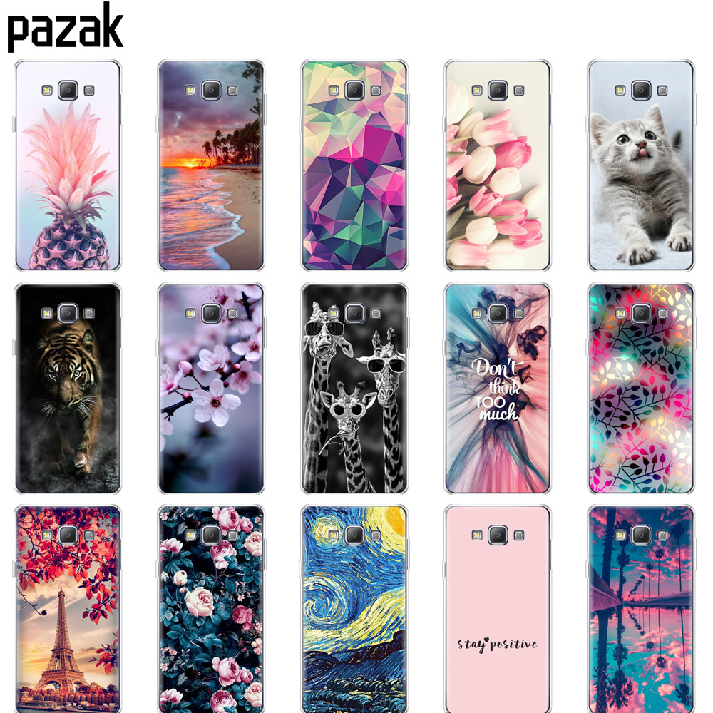 case For Samsung Galaxy A7 2015 Case coque Soft TPU silicon Back Cover on for Samsung A7 2015 A700 A700F bumper copa shockproof image