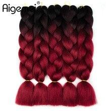 Jumbo Braids Ombre High Temperature Fiber Braiding Hair 24 100g Crochet Extention 1piece/lot And 5piece/lot