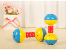 Baby-bed Mobile Bed Bell Develop Intelligence Plastic Hand Bell Baby Rattle Mobiles Educational Toys Baby Newborn Toy Rattle(China)