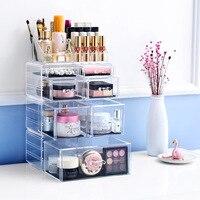 Cosmetic Holder Big size transparent box Fashion cosmetics drawer Fashion Acrylic Cotton Swab Organizer Box L52
