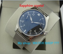 Saphir cristal 44mm PARNIS ST3600/6497 Mécanique Main Vent mouvement Mécanique montres hommes lumineux de montres en gros o20