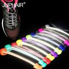 1 Pair Night Glow Elastic Shoelaces Shoestrings /Jogging/Triathlon/Sport Fitness Multicolor Lace Black Buckle Locking Shoe Laces