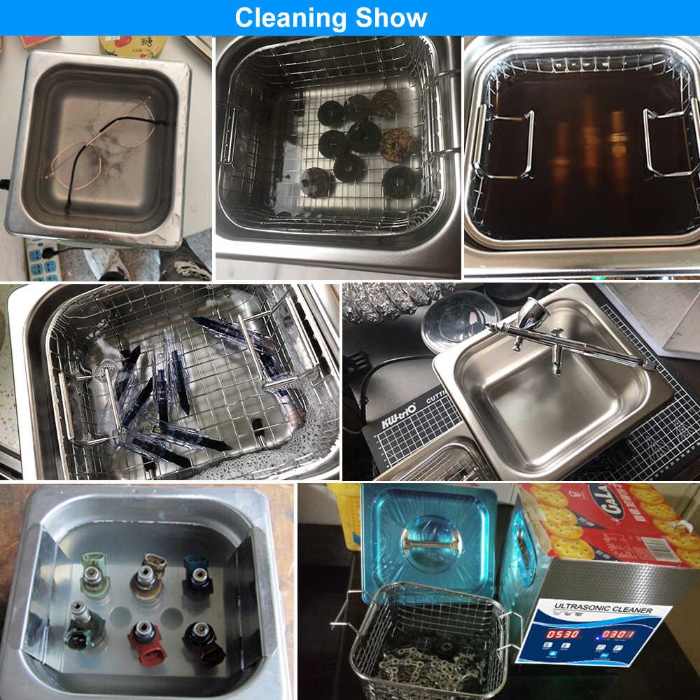 Granbo Digital 2L 120W Ultrasonic Cleaner dengan Degas Pemanasan Mandi untuk Gigi Jam Tangan Kacamata Koin Alat Bagian Menghilangkan Karbon