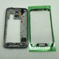 Cep telefonları ve Telekomünikasyon Ürünleri'ten Cep telefonu yuvası'de Orijinal Orta Çerçeve çerçeve Şasi Konut Samsung Galaxy S5 Neo G903 G903F orta çerçeve ile etiket
