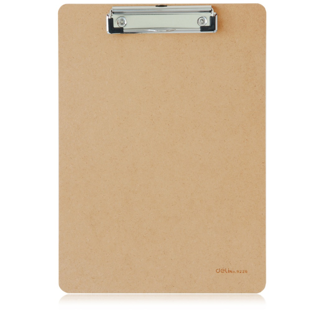 1 Pc/Lot Durable A4 Wooden Clipboard For Office Supply & School Stationery & Home Use