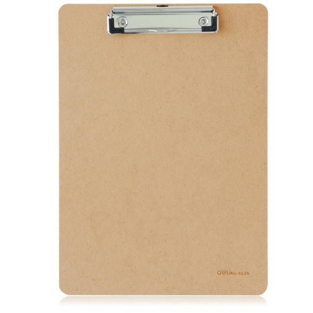 1 pc lot durable a4 wooden clipboard for office supply school