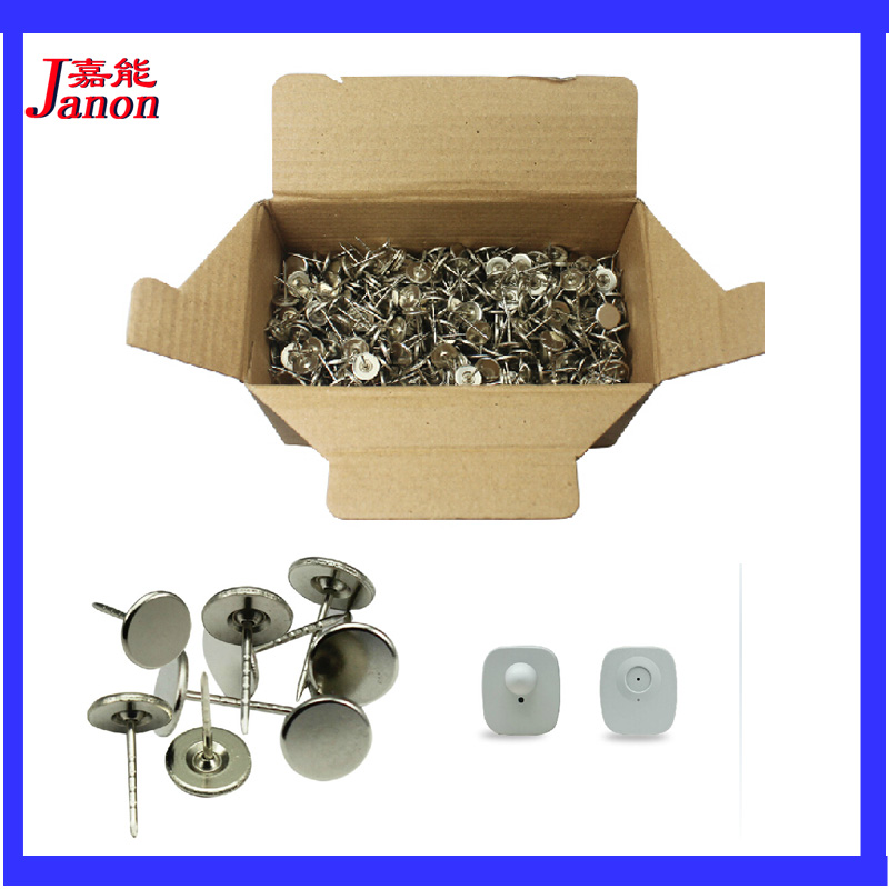 EAS Security System Parts EAS Hard Tag Pins 1000pcs, 16mm Or 19mm (16mm By Default, Contact Us If You Need 19mm)