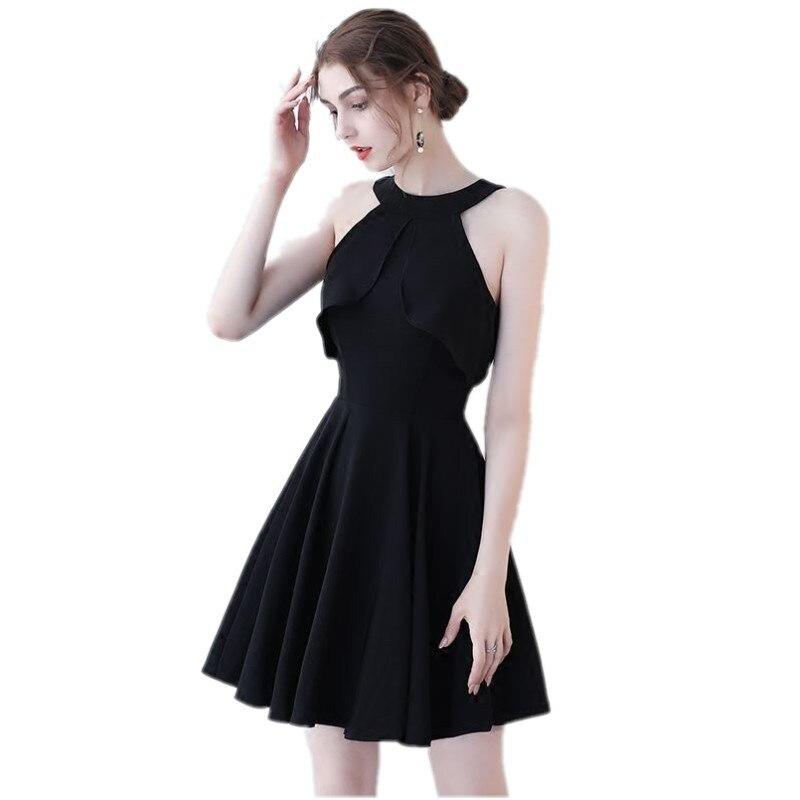 ba839c55e1579 Güzellik Emily Siyah Kırmızı A-Line Kısa Seksi Parti balo kıyafetleri 2017  Mezuniyet Elbiseleri O