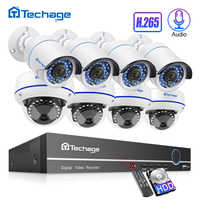 H.265 8CH 1080P HDMI POE NVR Kit hasta 16CH CCTV sistema de seguridad 2MP Interior Exterior domo de Audio IP conjunto de videovigilancia para cámara