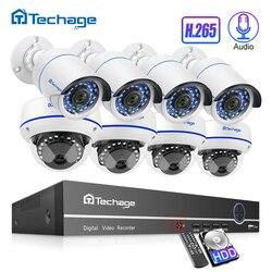 H.265 8CH 1080P POE طقم NVR الصوت الصوت نظام الدائرة التلفزيونية المغلقة 2.0MP قبة الأمن IP كاميرا P2P IR داخلي في الهواء الطلق فيديو المراقبة مجموعة