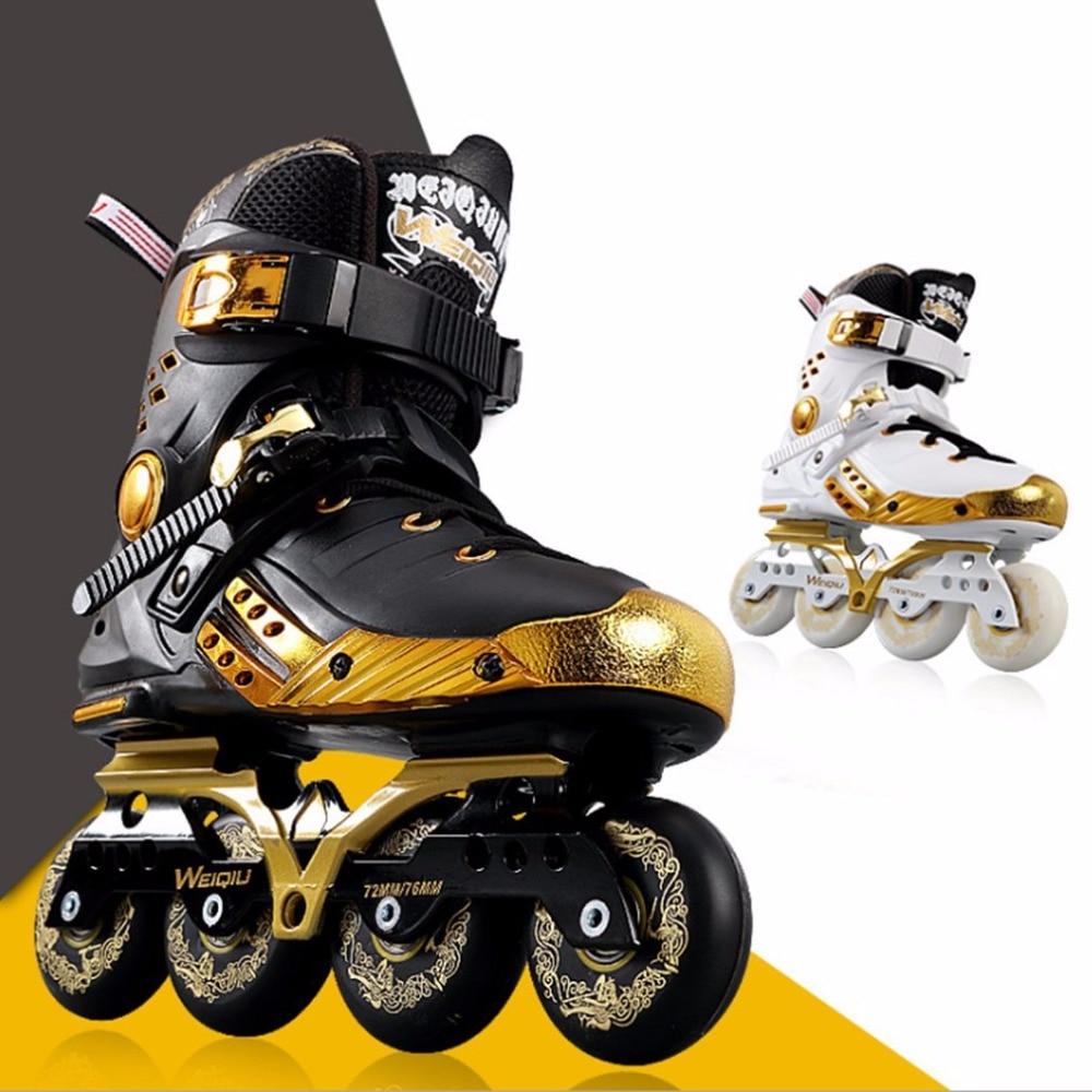 Illuminating Inline Skates PU Wheels Full Light Up LED Wheels Roller Skates Universal Men And Women Skates For Skating Rink Hot inline duo 7квт киев