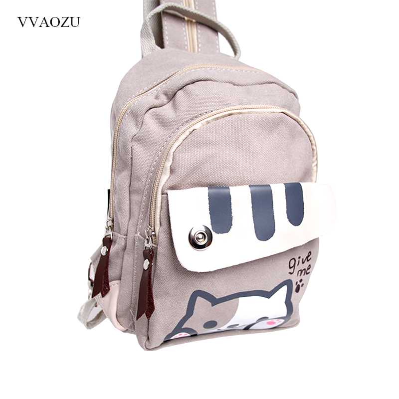 უფასო გადაზიდვა Cat Backyard Print Girls Lolita Shoulder Bag Adorable Student Backpack Cartoon Mini Chest Bag Rucksack