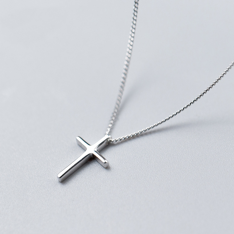 MloveAcc Classical Cross Necklaces & Pendant Real 925 Sterling Silver Necklace Jewelry Best Friend GiftsMloveAcc Classical Cross Necklaces & Pendant Real 925 Sterling Silver Necklace Jewelry Best Friend Gifts
