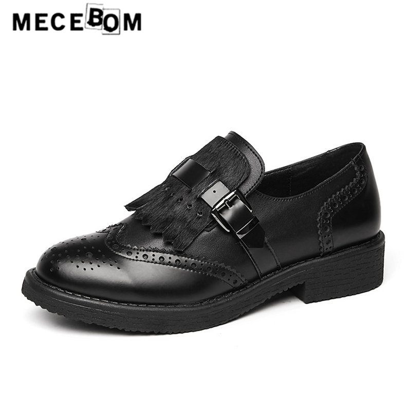 2018 new fashion women's Brogue oxford shoes black Fringe decoration lace-up women genuine leather shoes flats size 35-40 810w flats oxford shoes for woman genuine leather custom made lace up black brogue shoes for women chaussures femme scarpe donna